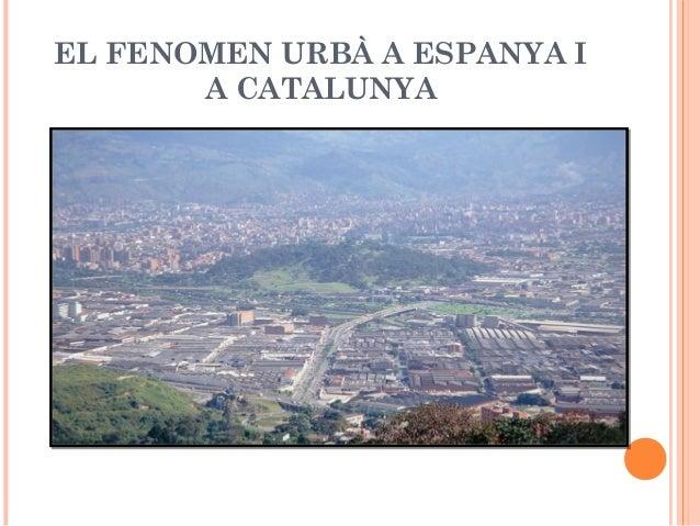 EL FENOMEN URBÀ A ESPANYA IA CATALUNYA