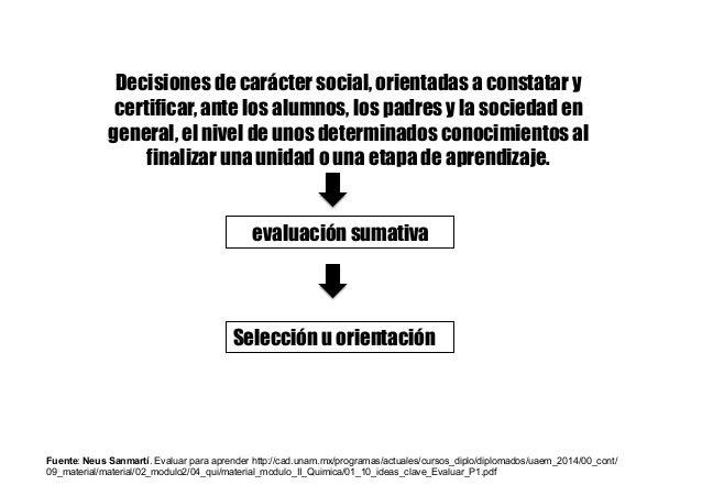 Decisiones de carácter social, orientadas a constatar y certificar, ante los alumnos, los padres y la sociedad en general,...