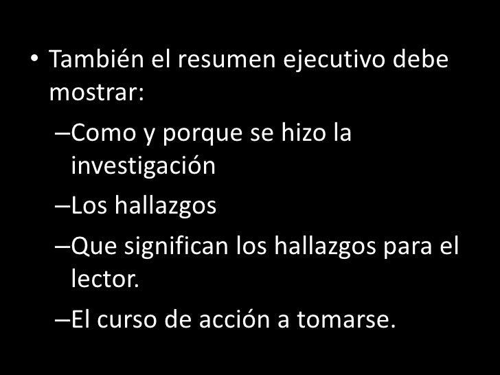 El Formato Del Reporte De Investigaci 243 N De Mercado