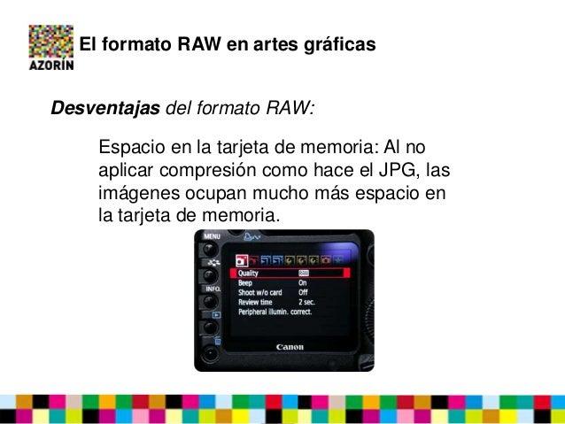 tarjeta de memoria formato raw