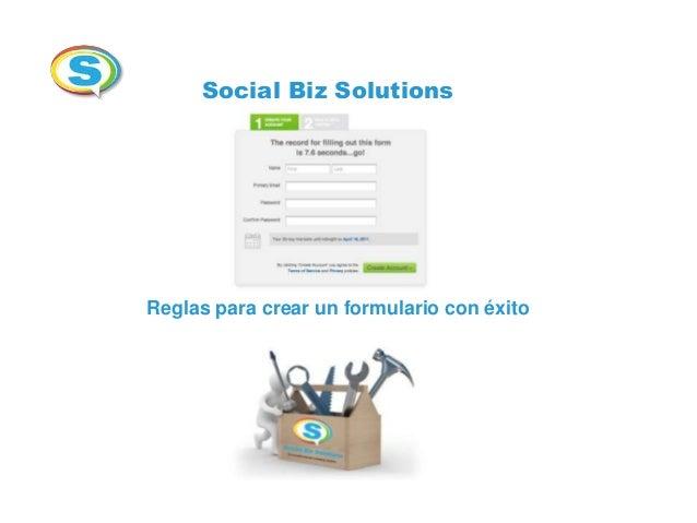 Social Biz SolutionsReglas para crear un formulario con éxito