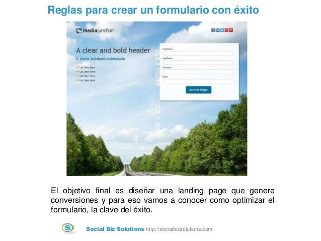 Como crear un formulario que convierta Slide 3