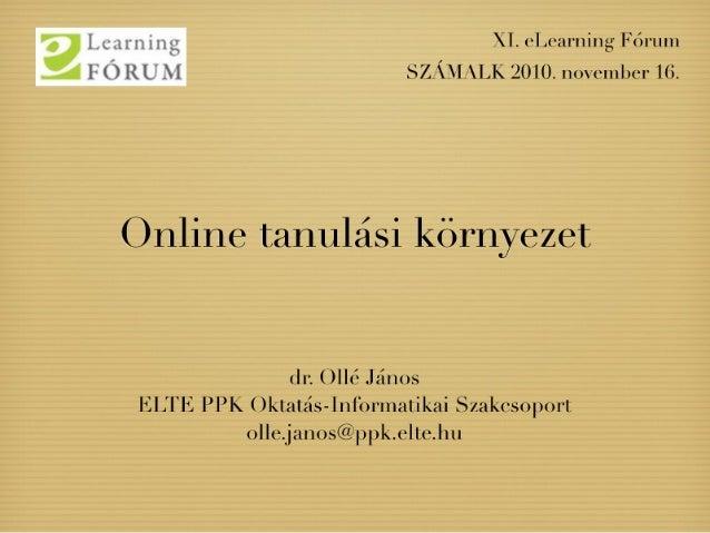 Online tanulási környezet