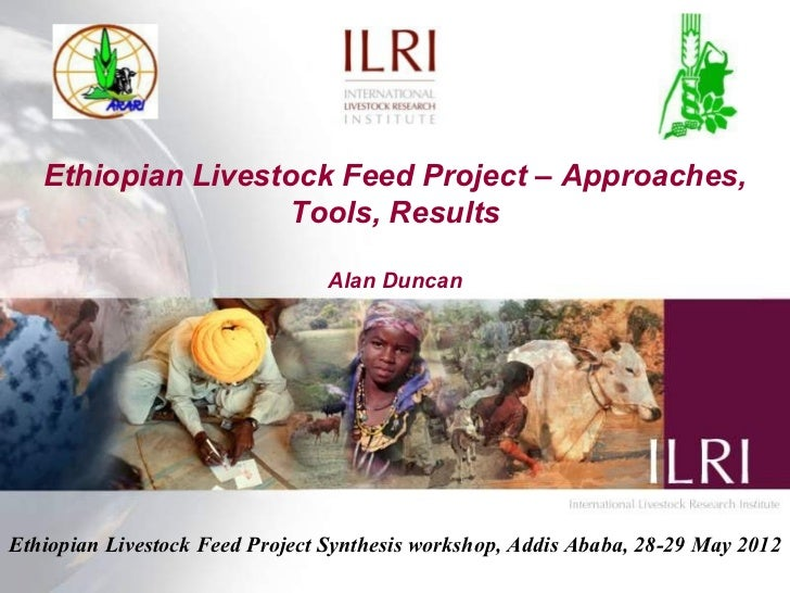 Ethiopian Livestock Feed Project – Approaches,                    Tools, Results                                 Alan Dunc...