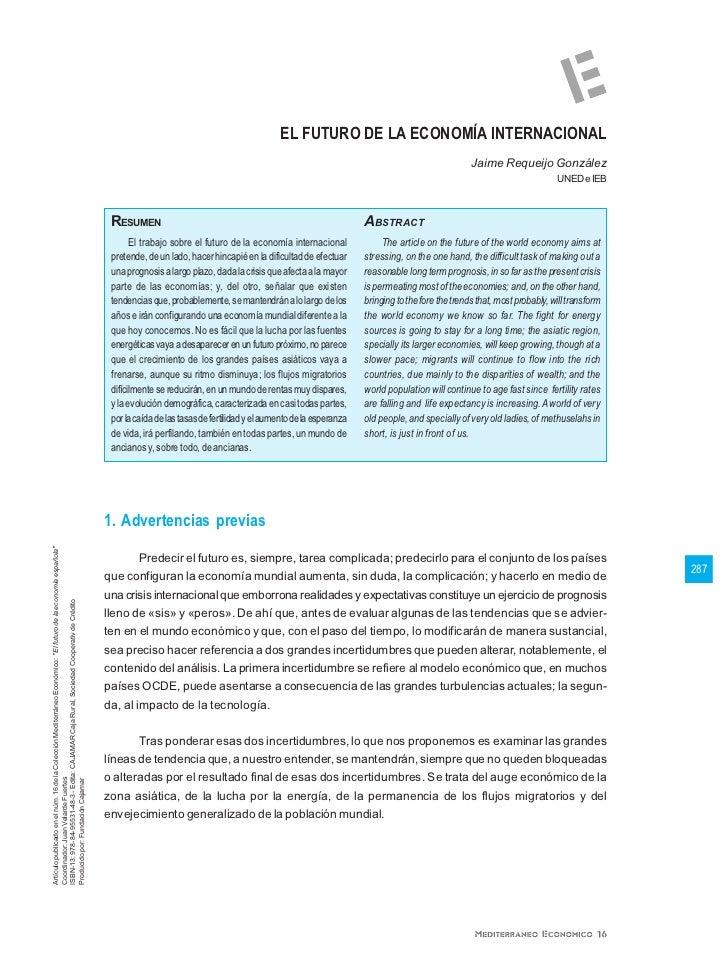 EL FUTURO DE LA ECONOMÍA INTERNACIONAL                                                                                    ...