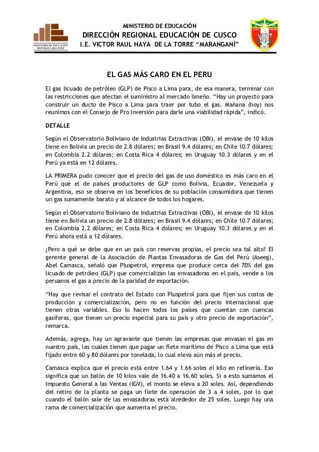 """MINISTERIO DE EDUCACIÓN              DIRECCIÓN REGIONAL EDUCACIÓN DE CUSCO             I.E. VICTOR RAUL HAYA DE LA TORRE """"..."""
