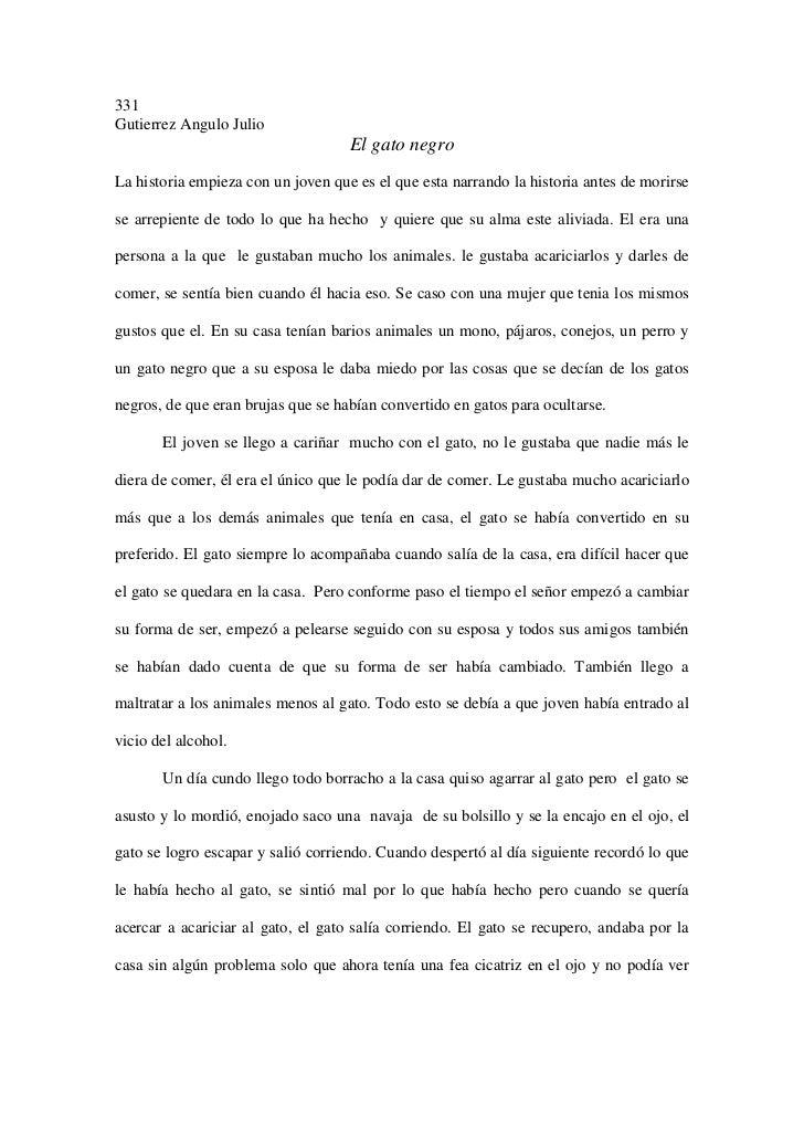 331Gutierrez Angulo Julio                                    El gato negroLa historia empieza con un joven que es el que e...