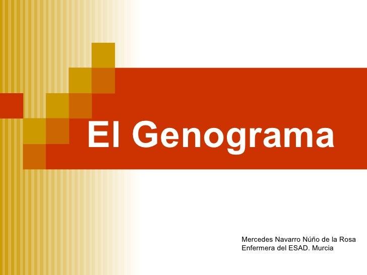 El Genograma Mercedes Navarro Núño de la Rosa Enfermera del ESAD. Murcia