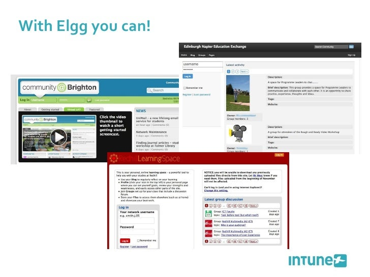With Elgg you can!