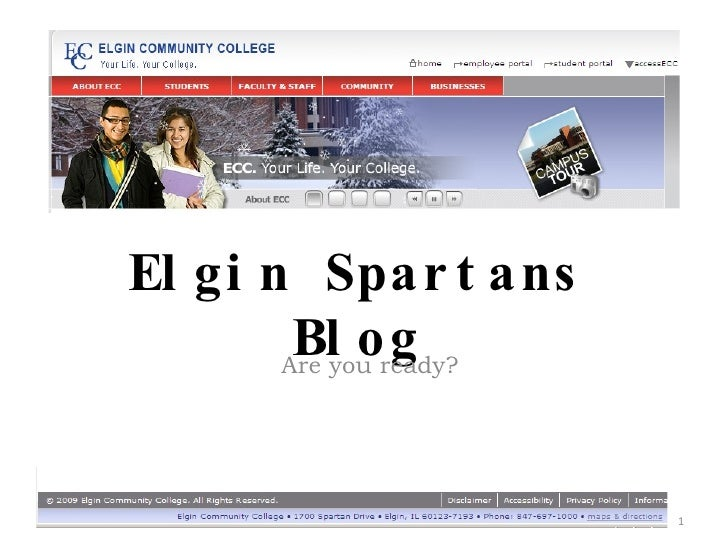 Elgin Spartans Blog Are you ready?