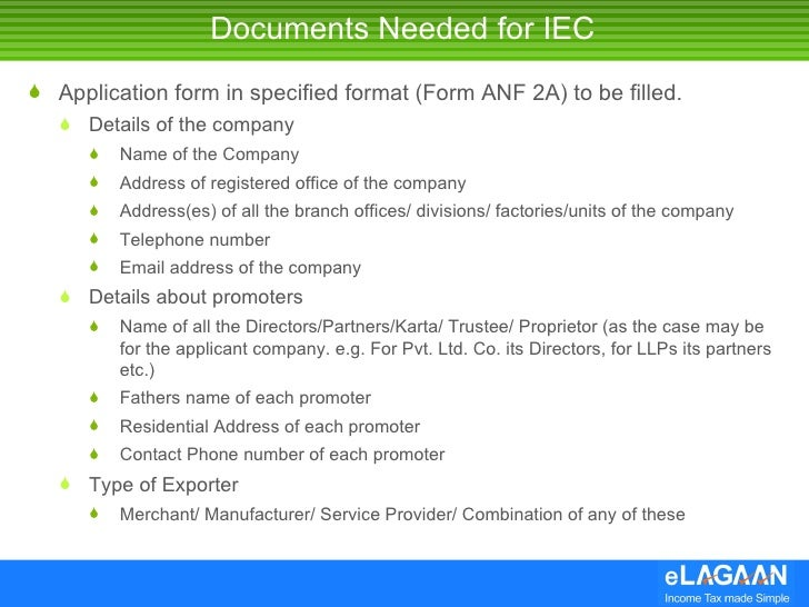 Get your import export code iec for india 3 documents needed for iec yelopaper Gallery
