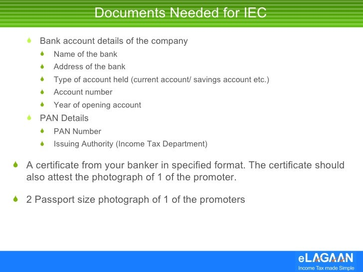 Get your import export code iec for india 4 documents needed for iec yelopaper Gallery