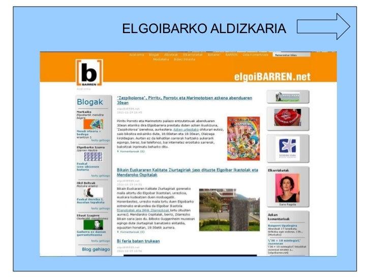 ELGOIBARKO ALDIZKARIA