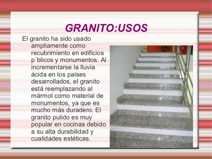 El granito materiales de construcci n mbito pr ctico for Que es el granito