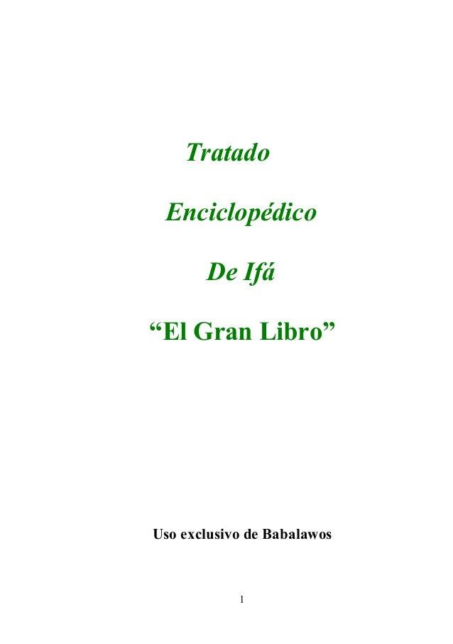 """Tratado Enciclopédico De Ifá """"El Gran Libro"""" Uso exclusivo de Babalawos 1"""