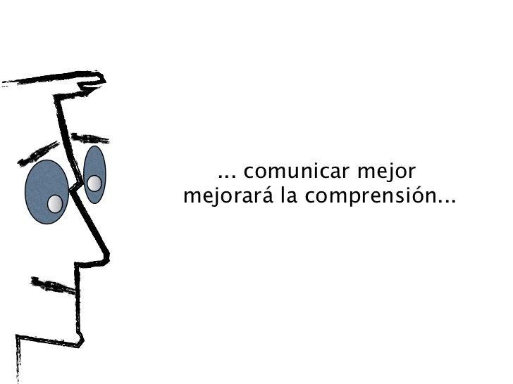 ... comunicar mejor mejorará la comprensión...... pero es frecuente hacerlomal y crear malentendidos...