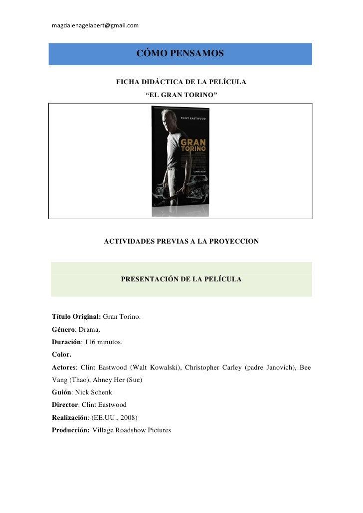 magdalenagelabert@gmail.com                           CÓMO PENSAMOS                     FICHA DIDÁCTICA DE LA PELÍCULA    ...