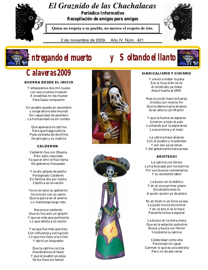 El Graznido de las Chachalacas                                      Periódico Informativo                               Re...