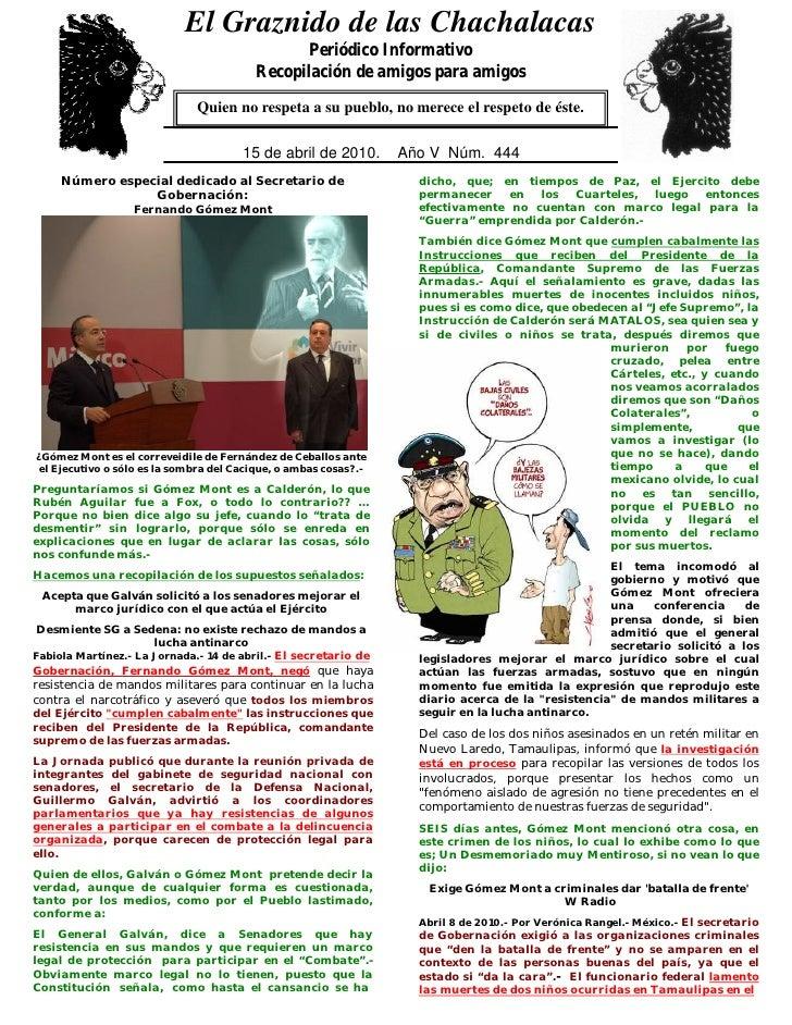 El Graznido de las Chachalacas                              0                                                 Periódico In...