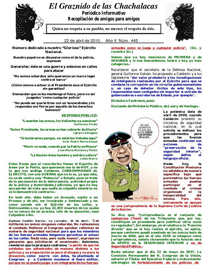 El Graznido de las Chachalacas                            0                                              Periódico Informa...