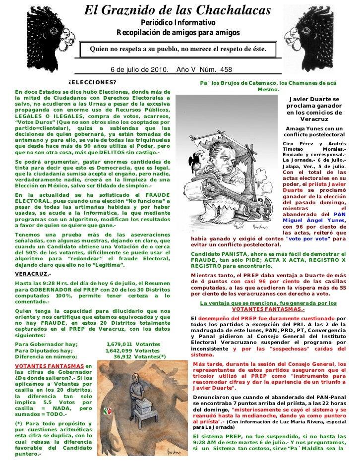 El Graznido de las Chachalacas                            0                                             Periódico Informat...