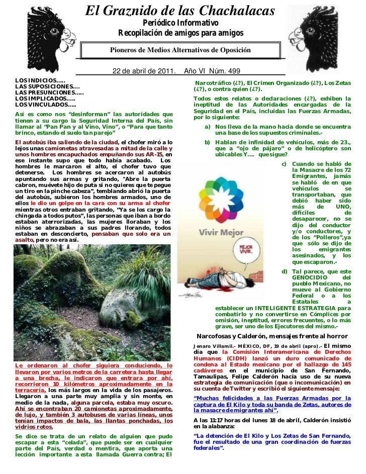 El Graznido de las Chachalacas                          0                                            Periódico Informativo...