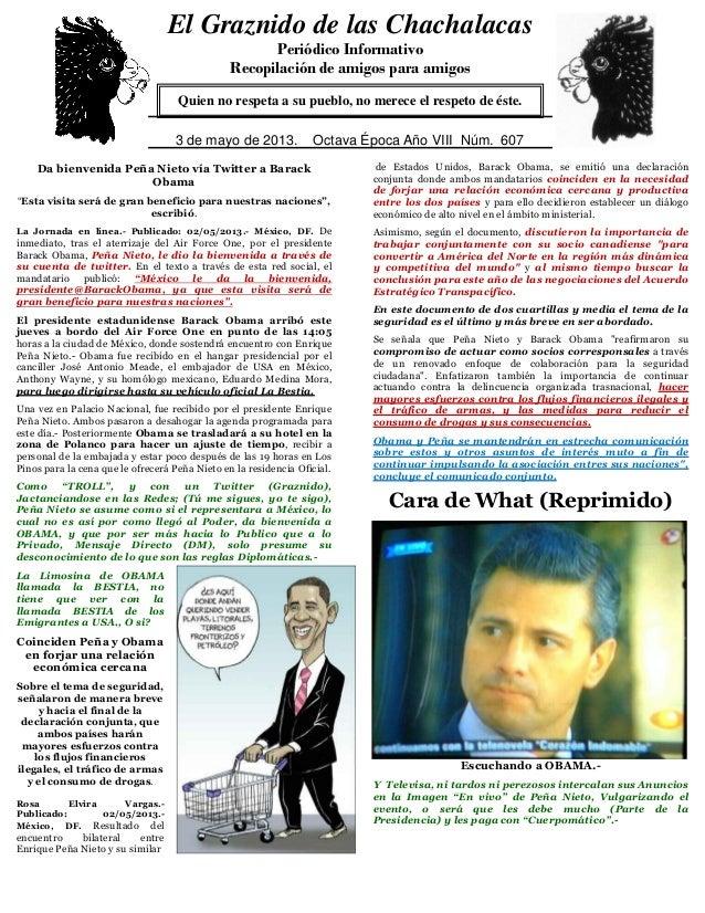 """Da bienvenida Peña Nieto vía Twitter a BarackObama""""Esta visita será de gran beneficio para nuestras naciones"""",escribió.La ..."""