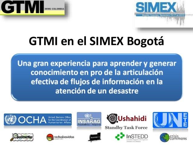 GTMI en el SIMEX Bogotá