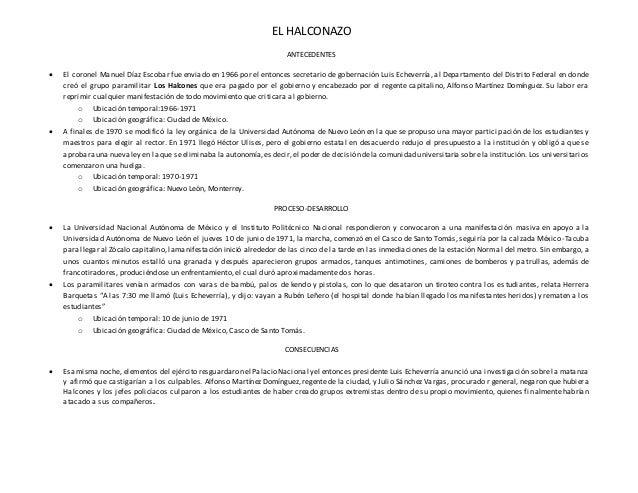 EL HALCONAZO  ANTECEDENTES   El coronel Manuel Díaz Escobar fue enviado en 1966 por el entonces secretario de gobernación...