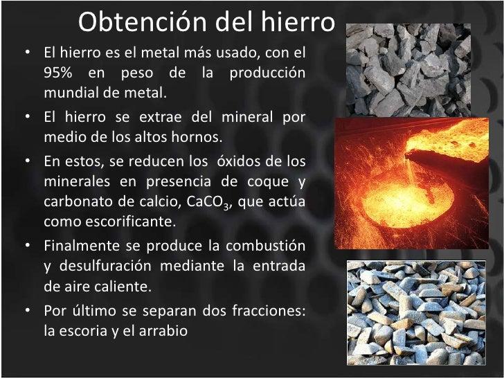 El hierro y sus aleaciones for Como se extrae el marmol