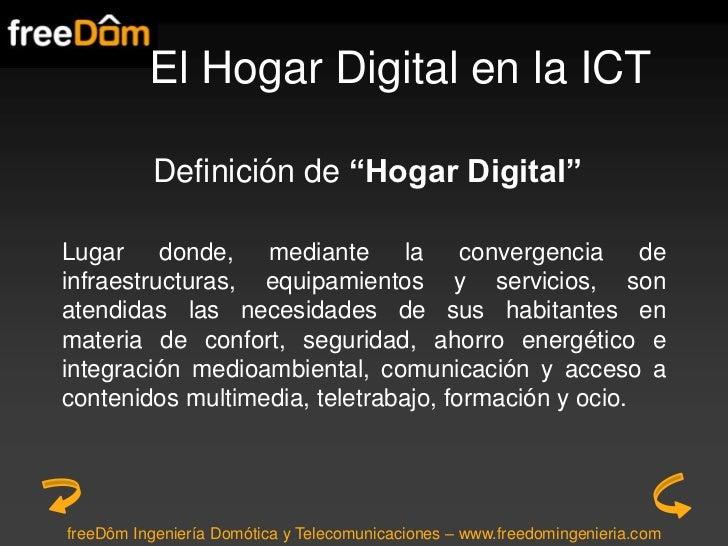 El hogar digital en la ict Slide 3