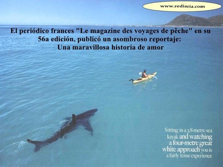 """El periódico frances """"Le magazine des voyages de pêche"""" en su 56a edición, publicó un asombroso reportaje:  Una ..."""