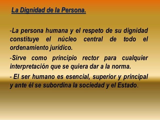 El Hombre Y La Dignidad Humana