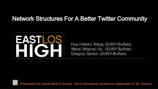 Network Structures For A Better Twitter Community Presentation for Social Media & Society - 2014 International Conference ...