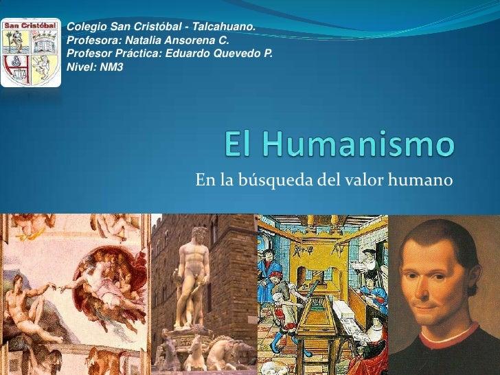 Colegio San Cristóbal - Talcahuano.Profesora: Natalia Ansorena C.Profesor Práctica: Eduardo Quevedo P.Nivel: NM3          ...