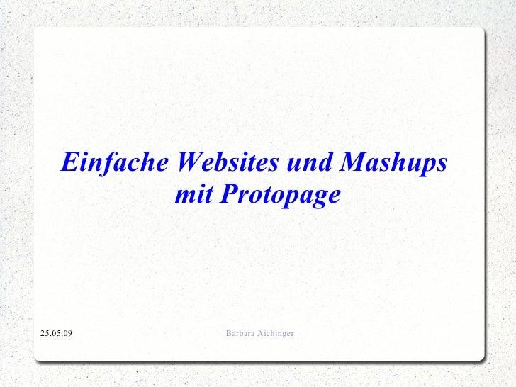 Einfache Websites und Mashups  mit Protopage