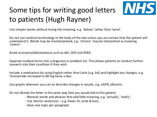 how to write a medical letters