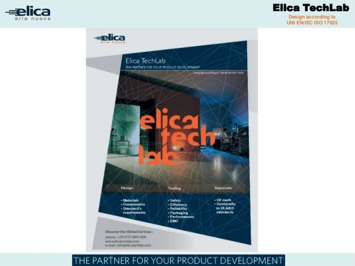 Elica TechLab                                  SMT&CTDP Laboratory                                    Design according to ...