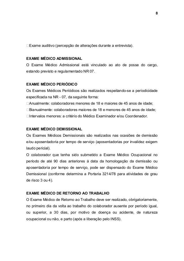 Exame admissional detecta drogas