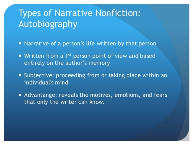 types of autobiography