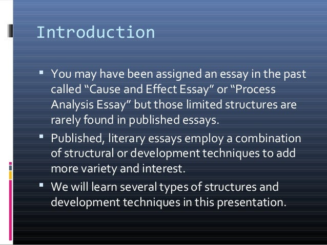 Eli eng125 structure in literary essays Slide 2