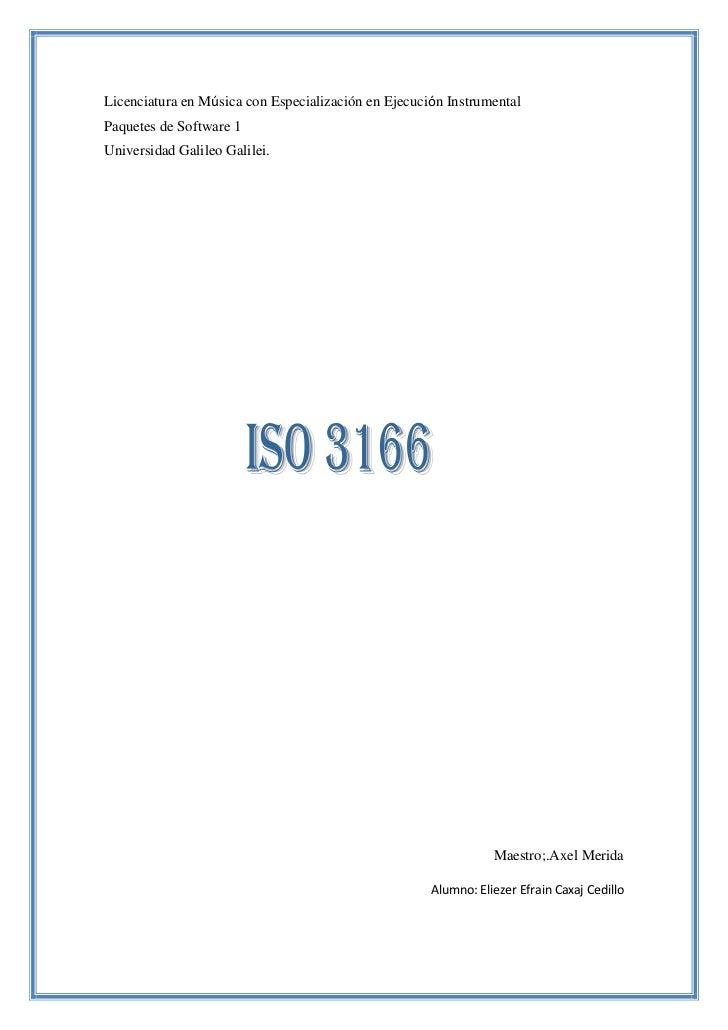 Licenciatura en Música con Especialización en Ejecución InstrumentalPaquetes de Software 1Universidad Galileo Galilei.    ...
