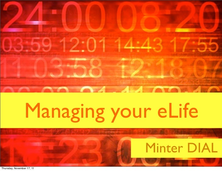 Managing your eLife                                                                        Minter DIAL                    ...