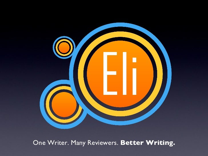 One Writer. Many Reviewers.  Better Writing.