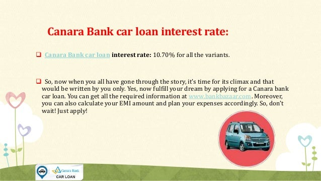 Canara Bank Car Loan Interest Rate
