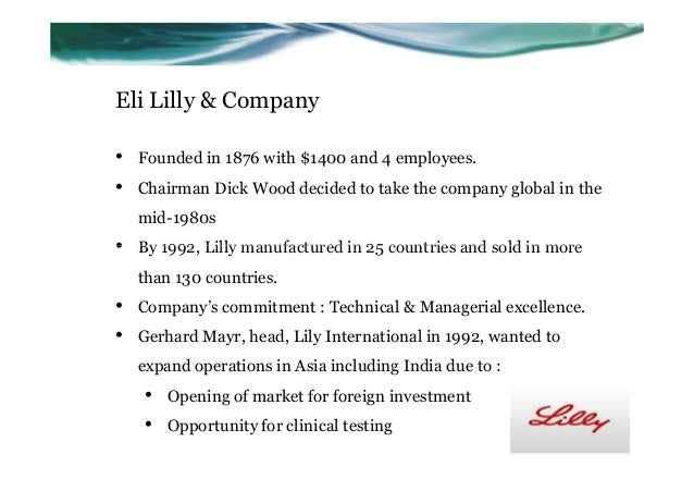 Eli lilly ranbaxy case group 4