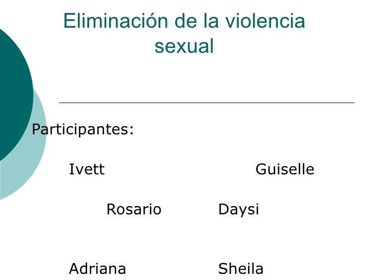 Eliminac. de la violencia sexual