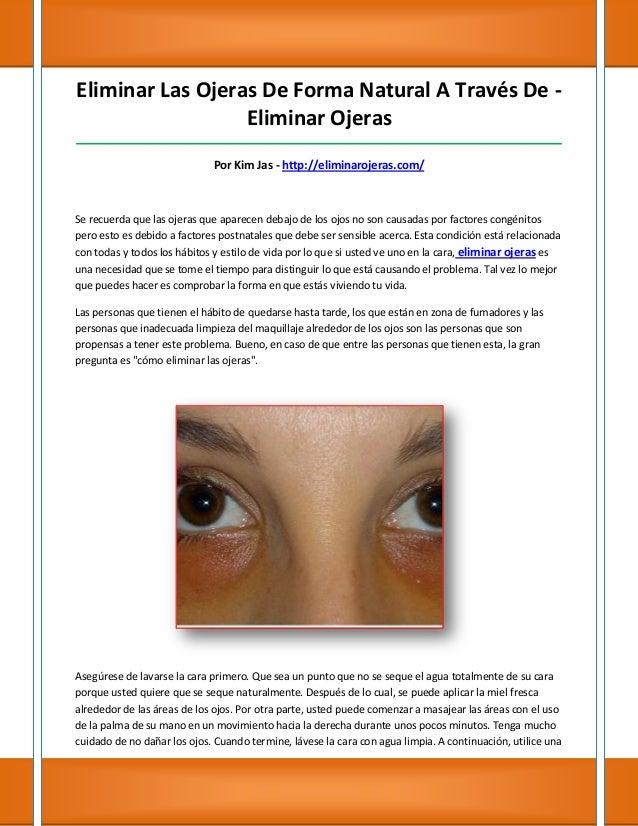 Eliminar Las Ojeras De Forma Natural A Través De -                  Eliminar Ojeras_______________________________________...