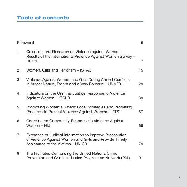 essay on preventing violence against women