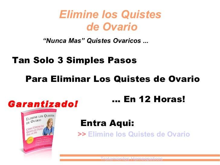 Elimine Los Quistes De Ovarios Download the Program No